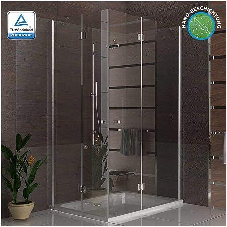 Cabina de ducha esquina. Ducha Incluye Nano Mampara de ducha 3078193010 métrica 120 x 90 x 195 esquina ducha: Amazon.es: Bricolaje y herramientas