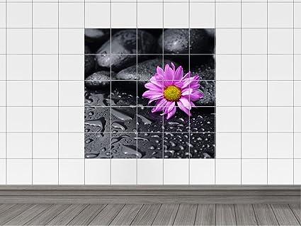 Piastrelle adesivo piastrelle quadro lilla brilliant fiori fiore