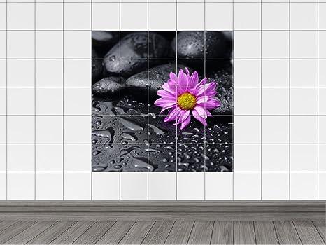 Piastrelle adesivo piastrelle quadro lilla brilliant fiori fiore con