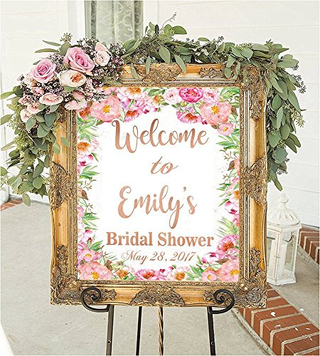 Personalized Bridal Shower Signs Welcome To Our Wedding Decorations Games Frame Favors Sign In Ideas Gift For Bride Banner Rustic Decor Brides Be