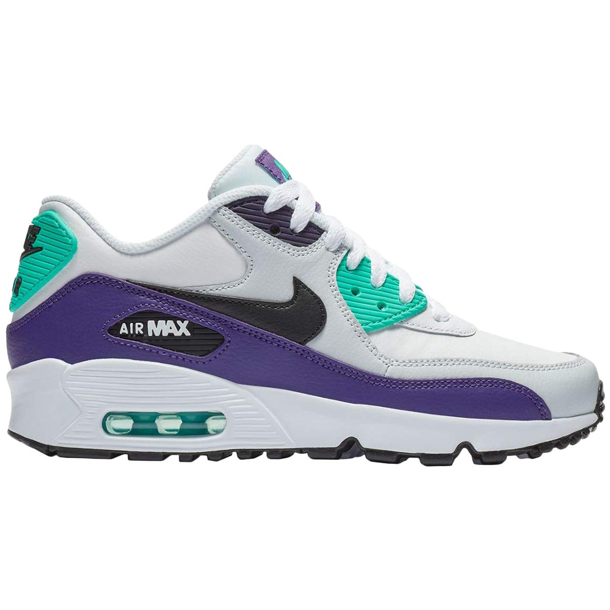 Galleon Nike Youth Air Max 90 LTR Leather White Trainers