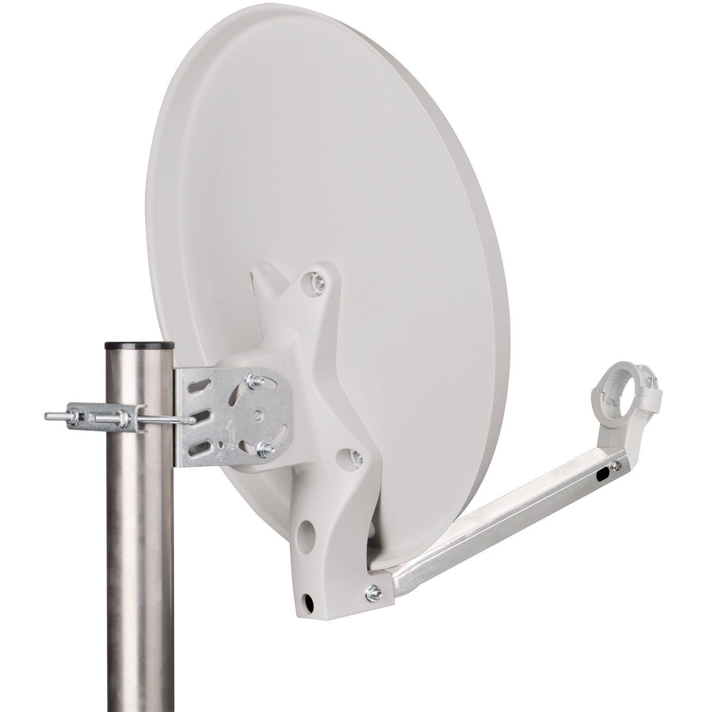 Sat-Antenne, Satellitensch/üssel, Camping, Balkon, Mini, Boot DUR-Line DSA 40cm Anthrazit Hochleistungs Hart-Aluminium Spiegel