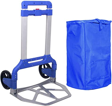 Hand cart Luggage car Heavy King Trolley car Pull Goods cart Folding Portable Grocery Shopping cart Trailer