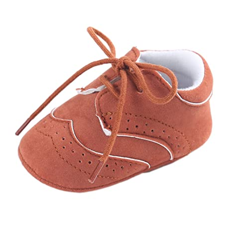 etrack-online bebé niños Deportes Zapatillas Zapatos de Prewalker Cuna con Cordones de Mujer,