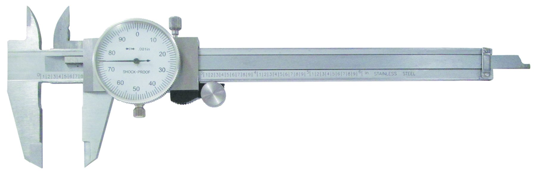 0 - 150mm Dial Calipers - White Face