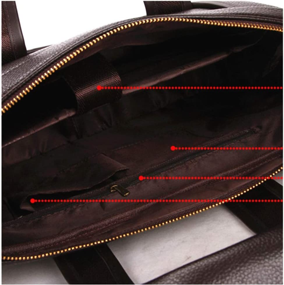 Color : Brown, Size : 381029cm DQJKL Mens Messenger Bag Business Briefcase for Men Shoulder Handbags with an Removable Shoulder Strap Multifunction Briefcase Travel Rucksack