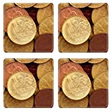 Liili Square Coasters IMAGE ID 9942062 antique real old spain republic 1937 currency peseta and 50 cents