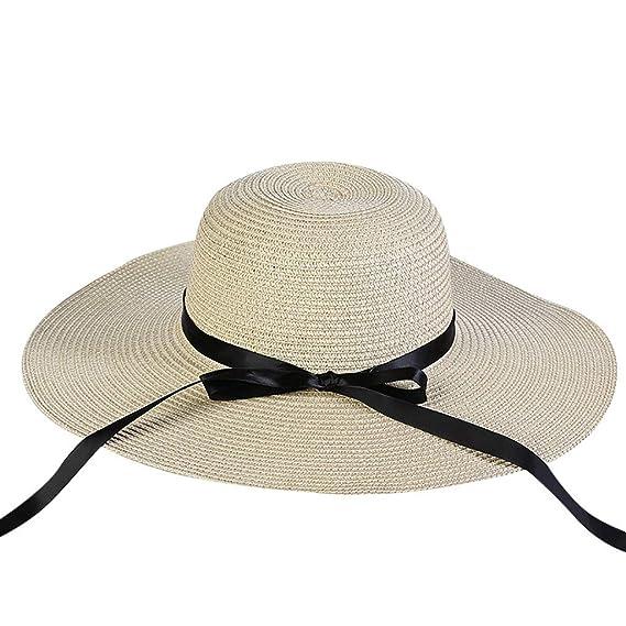 Pamela - para Mujer Mujer Sol Verano Algodón Sombrero De ala Ancha Tapa  Abatible UPF 50 + Barbilla Manera Gorro de La Visera del Verano de Señoras  Al Aire ... 33fd721925cc