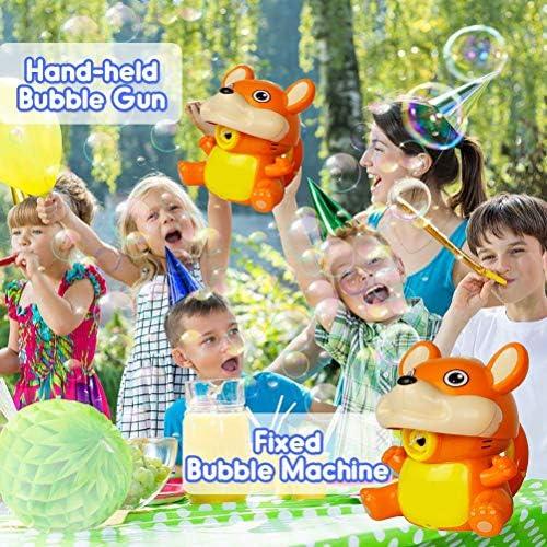 Crabitin バブルマシーン 玉製造機 電動式シャボン玉 子供用 可愛い 外遊び プール 泡製造機 アウトドア パーティー 舞台効果 子供のおもちゃ 外遊び 誕生日/結婚式でも適用 プレゼント スポーツトイ 面白い