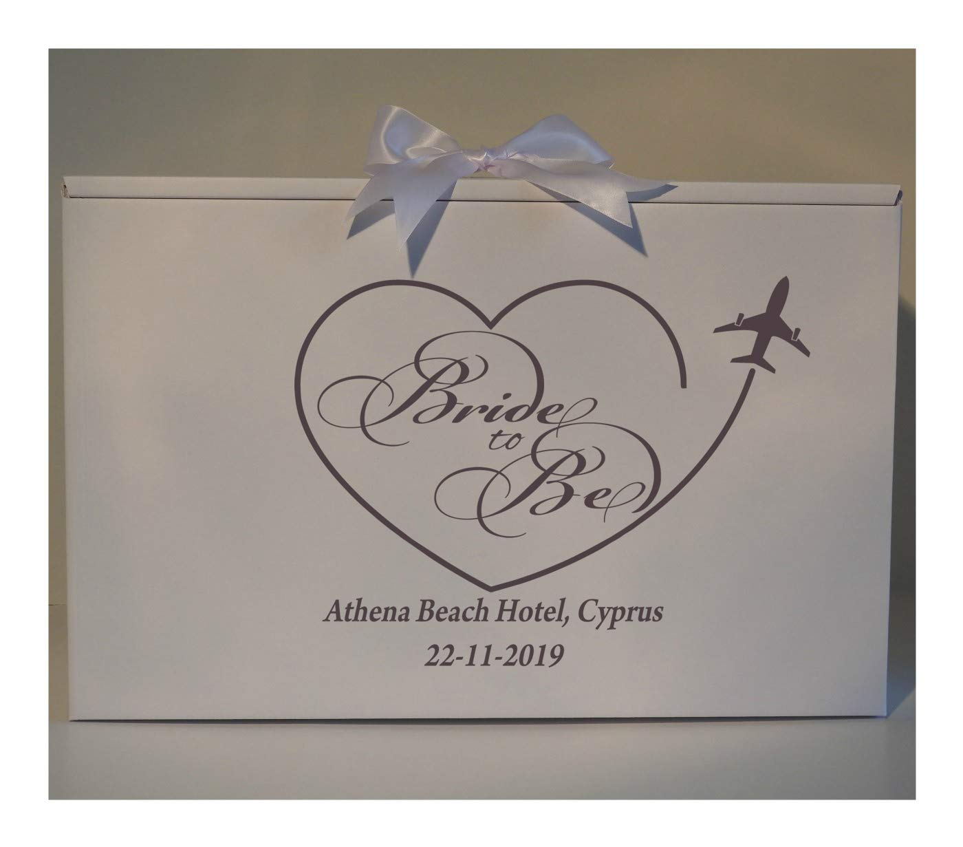 Wedding Dress Travel Box Bride to Be Airline Storage Cabin Size Hand Luggage Acid Free PH Neutral Personalised with Date & Destination Bride Location Handmade