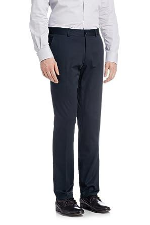 Esprit - Pantalón de Traje para Hombre, Talla 42, Color Azul ...