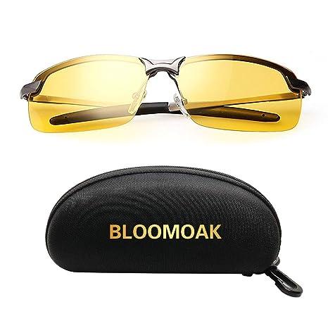 Gafas Nocturna | Gafas de sol - Para la pesca / Conducción nocturna / Reducción de riesgos | Antideslumbrantes / Protección UV400 de Ojos / HD Vision ...