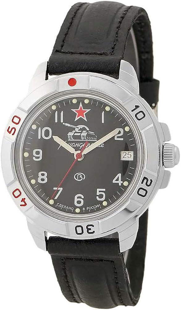 Vostok Komandirskie Military Russian Watch Commander of Tank Black 2414 431306
