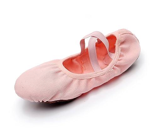 DoGeek Ballet de Danza Baile Transpirable Zapatos de Ballet Zapatillas Yoga para Niña Mujer