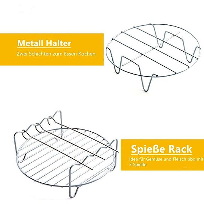 5 Piezas Kit universal de accesorios de la freidora de aire para Gowise Phillips y Cozyna, óptimo Ajustar todos 3.7, 5.3, 5.8 QT: Amazon.es: Hogar