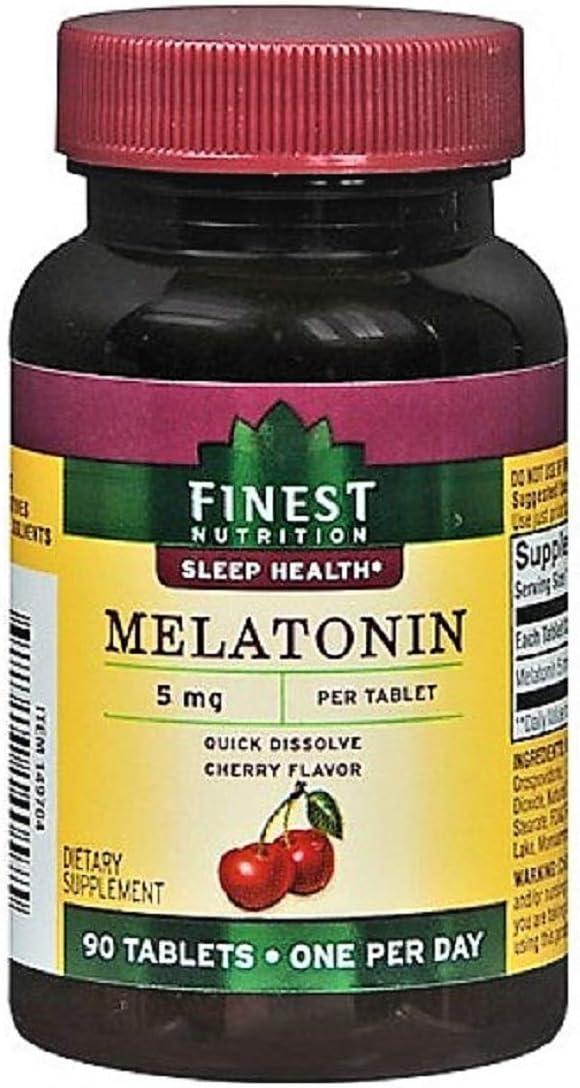 Finest Nutrition Melatonin 5 mg Dietary Supplement Tablets, 41 90 Each by Finest Nutrition