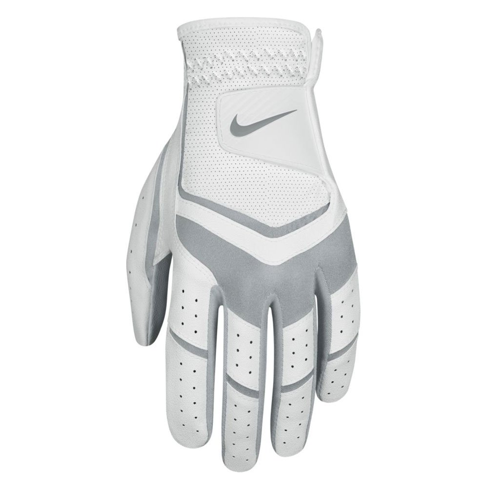 NIKE Women's Dura Feel Golf Glove (Left Hand), Medium, White/Anthracite/Cool Grey