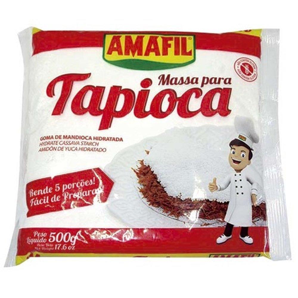 Amazon.com : Amafil Tapioca Flour 500g (17.6oz) Massa Para Tapioca (One Pack) : Grocery & Gourmet Food