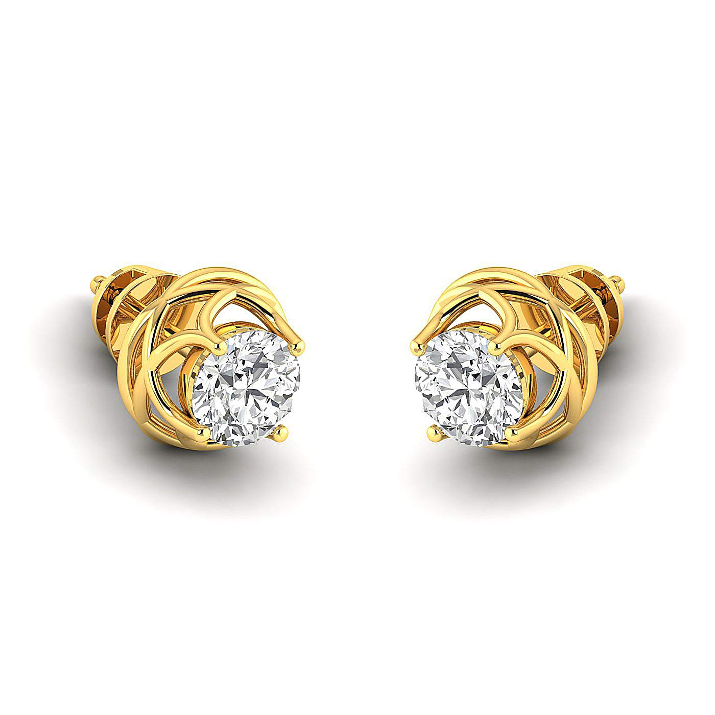 Earring Studs 0.3 to 4 Carat Moissanite Stud Earrings 18K yellow-gold GH//VVS Round Brilliant Stud Earrings for Women perfect Jewelry Gifts for Women Teen Girls