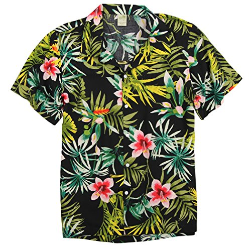 Hawaiian Linen (Urban Boundaries UB Apparel & Gear Men's Short Sleeve Rayon Hawaiian Tropical Patterns Shirts (Plumeria Lei, Medium))