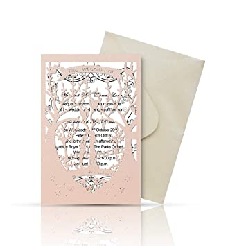 picture about Printable Wedding Invitation Kits known as Laser Slice Printable Marriage ceremony Invitation Kits - 25computers 4.7 x 7 Get pleasure from Tree Wedding day Invites Playing cards with