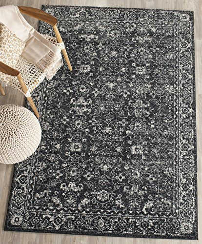 - Safavieh Evoke Collection EVK270K Vintage Charcoal and Ivory Area Rug (3' x 5')