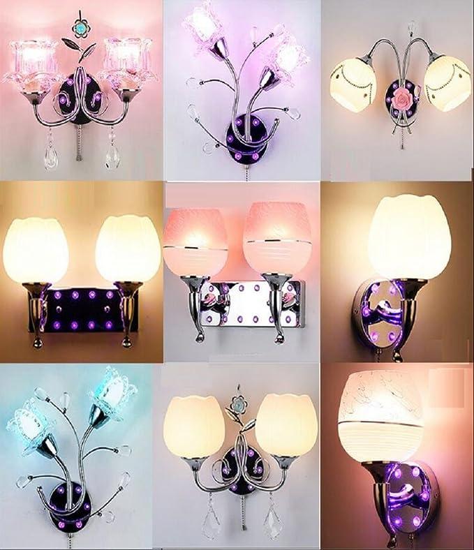 Kesierte Kreative verchromt Glaskristallwand Lampen warme LED Nachttischlampe Moderne Minimalist ...