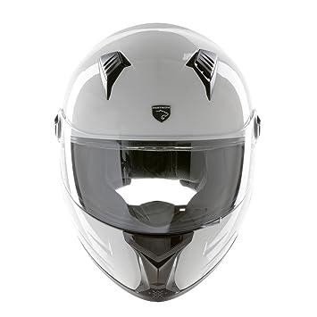 PANTHERA casco de moto integral Racer blanco brillante talla S