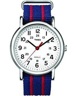 Timex Mens T2N747KW Weekender Slip Through Strap Watch