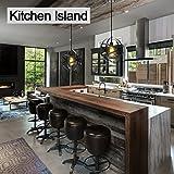 KingSo Industrial Metal Pendant Light, Spherical Ceiling Light ORB Globe Hanging Light Fixture For Kitchen Island Dining Table Bedroom Hallway