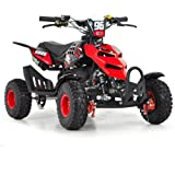 FUN:BIKES FunBikes Kids Mini Quad Bike 49cc 50cc Petrol Quad - Ride On ATV Midi (Red)