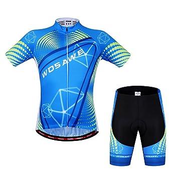 Fastar Conjunto Ropa de Ciclismo Corto Verano para Hombre - Elegante Ropa Ciclismo Profesional para MTB, Bicicleta de Carretera