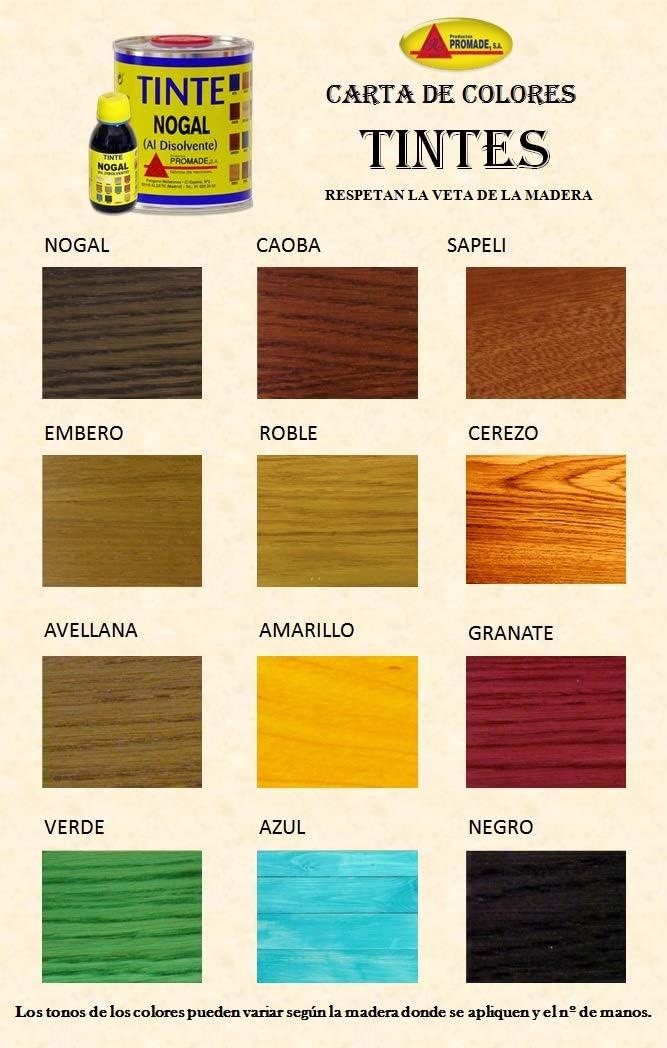 Promade - Tinte al disolvente para teñir la madera. Tonos de madera y colores vivos y modernos (125 ml, Granate)
