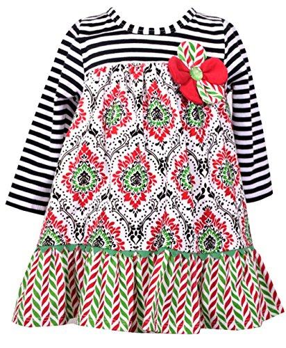 Damask Flower Girl Dress (Bonnie Jean Girls Stripe Damask Dress (18)