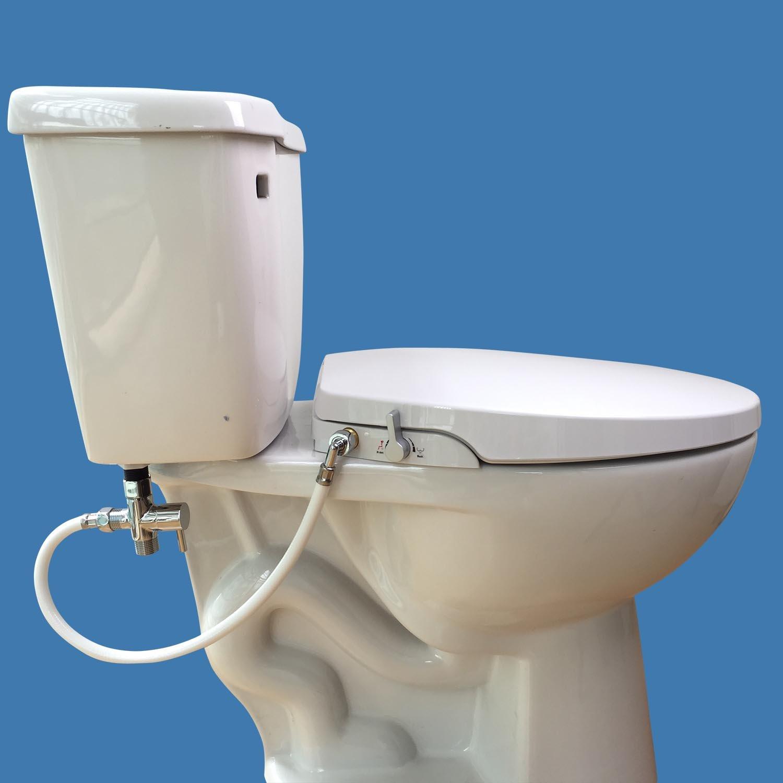 Hibbent Non Electric Toilet Bidet Seat - No Electricity Bathrroom ...