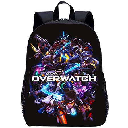 ZYY Backpack Mochila Escolar para Niños 3D Anime Overwatch ...