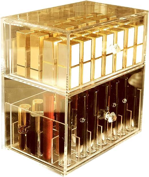 ZHXY Caja de pintalabios Expositor de pintalabios Organizador de Maquillaje acrílico Transparente la Joyería Soporte Exhibición Cosmético con Gavetas Brochas de Maquillaje,Esmalte de Uñas: Amazon.es: Hogar