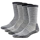 Merino Wool Hiking Socks, RTZAT 4 Pairs Unisex Winter...