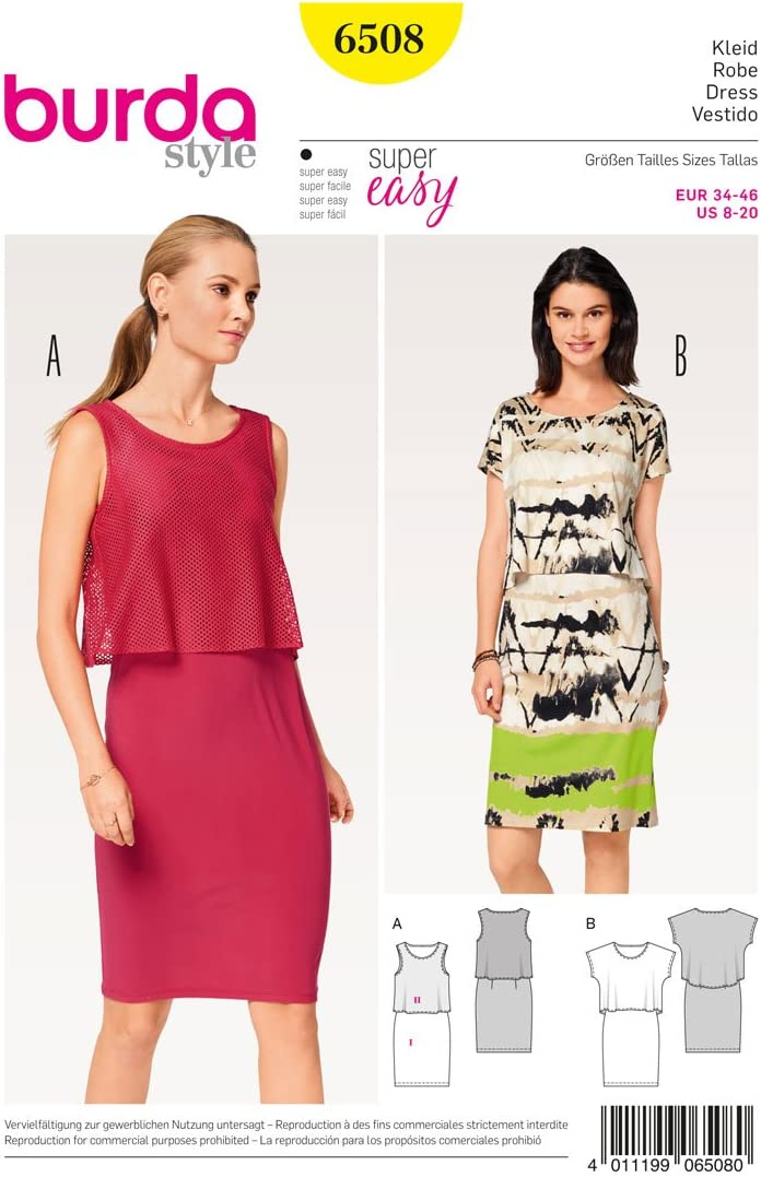 Burda patrón de costura para patrones de costura para Super fácil ...