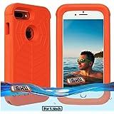 Temdan iPhone 7 plus / 6s plus / 6 plus Floating Case with Waterproof Bag Shockproof Lifejacket Case for iPhone 7 plus / 6s plus/ 6 plus (5.5inch) -Orange