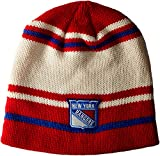 ranger hockey hat - NHL New York Rangers Men's Face-Off Beanie Knit Cap, One Size, Puddy