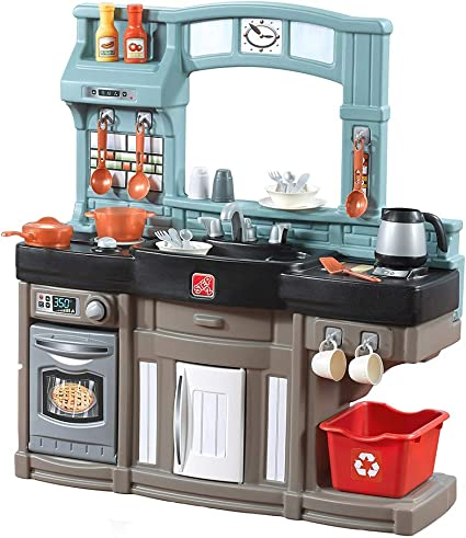Step2 Best Chefs Kitchen PlaysetKids Play Kitchen with 25-Pc Toy Accessories