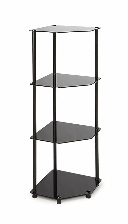 Convenience Concepts Designs2Go 4-Tier Corner Shelf Black
