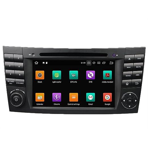 Android 8.0 Octa Core coche reproductor de DVD GPS navegación Multimedia estéreo coche para Benz E-Class W211 2002: Amazon.es: Electrónica