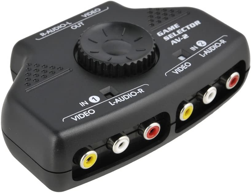 FYL 3FT M TO M CABLE RCA Audio Video Selector Switcher Switch Box A//V input//output