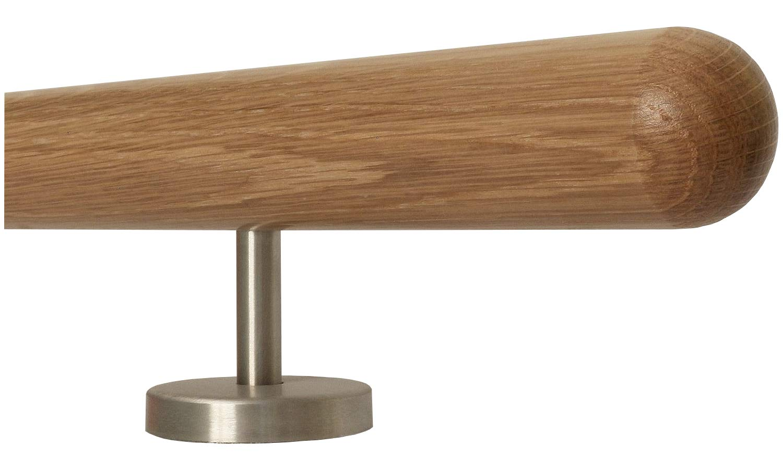 mango recto de una sola pieza soporte de acero inoxidable longitud 30 500 cm Barandilla de madera de roble