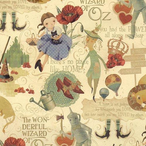 Italian Fairy Tale Paper- The Wizard of oz 27x36