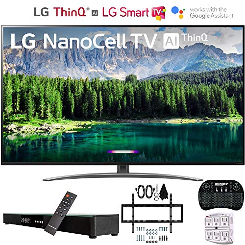 LG 49SM8600PUA 4K HDR Smart LED NanoCell TV w/AI ThinQ (2019) w/Soundbar Bundle Includes Deco Gear Home Theater Surround Sound 31