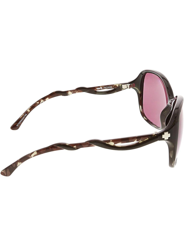 64d748a928a Amazon.com  SPY Optic Fiona Women s Sunglasses (Black Smoke Tort - Happy  Rose w Midnight Spectra Mirror)  Spy  Clothing