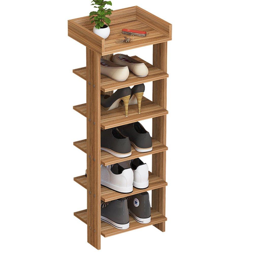 EIDUOシューズラック シックな6層の靴のラックMDFは靴の6つのペアを収容することができます29 * 24 * 96.5cm 自宅に適しています (色 : 1) B07DK3KMTN 1